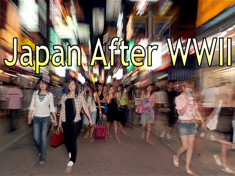 Japan After WWII