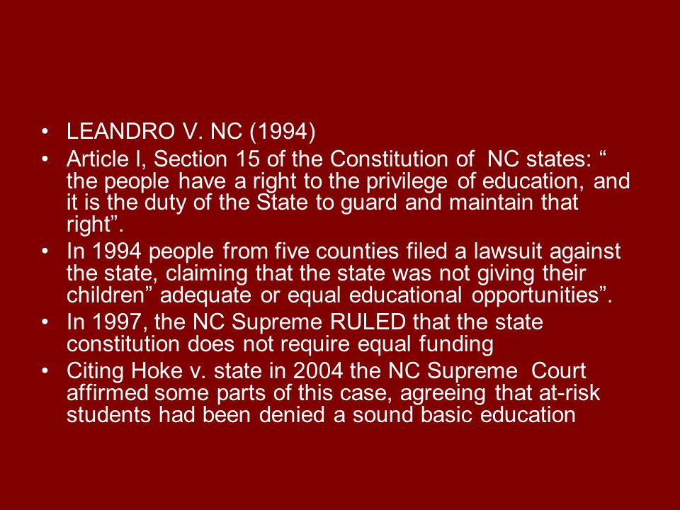 LEANDRO V. NC (1994)