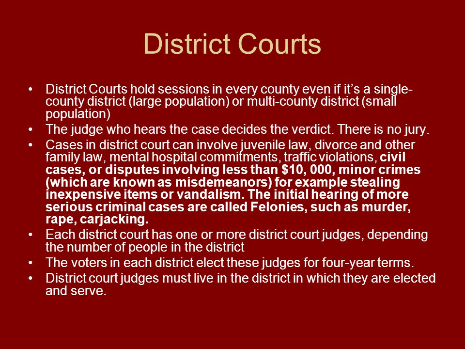 District Courts