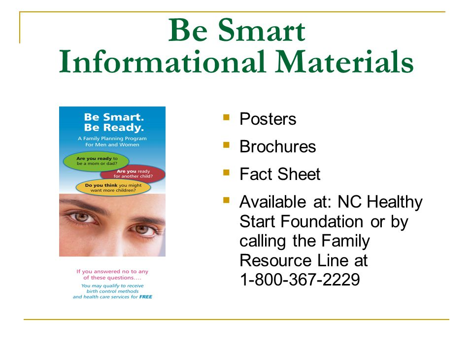 Be Smart Informational Materials