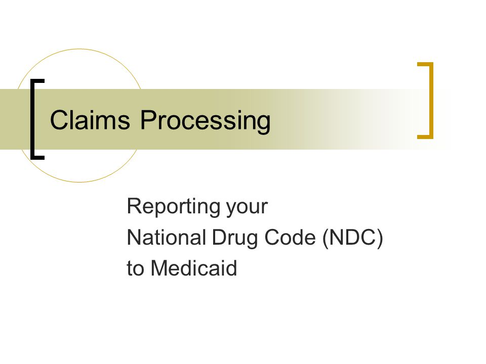 Reporting your National Drug Code (NDC) to Medicaid