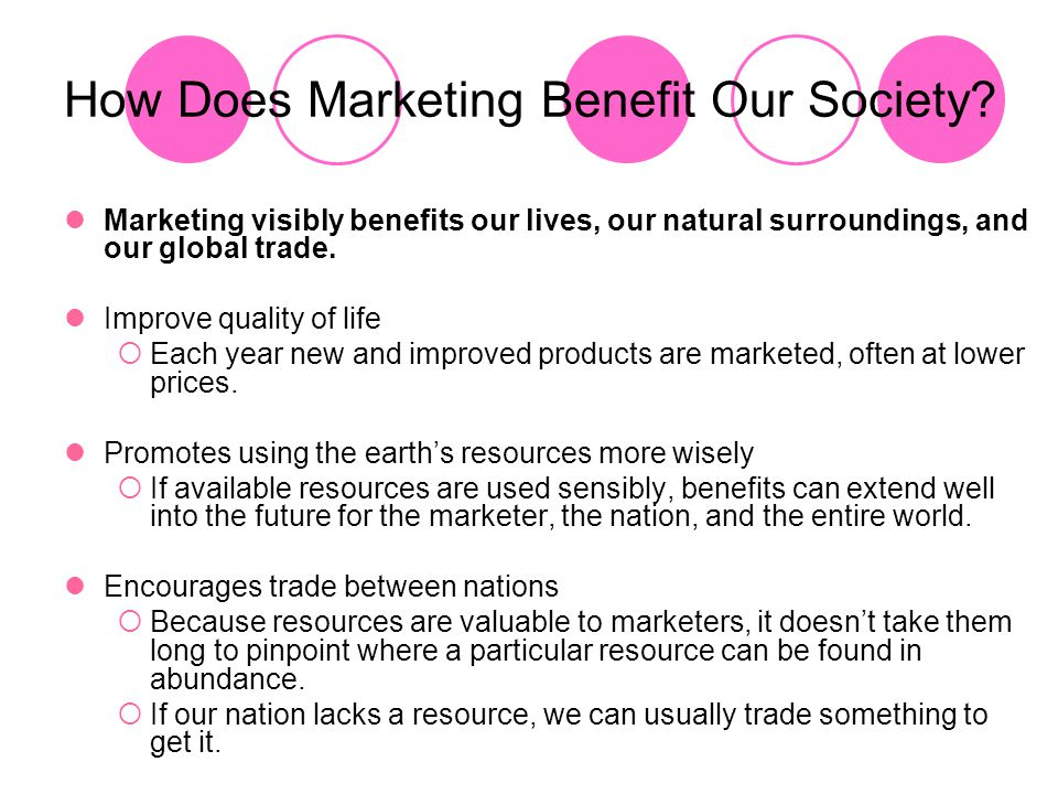 How Does Marketing Benefit Our Society