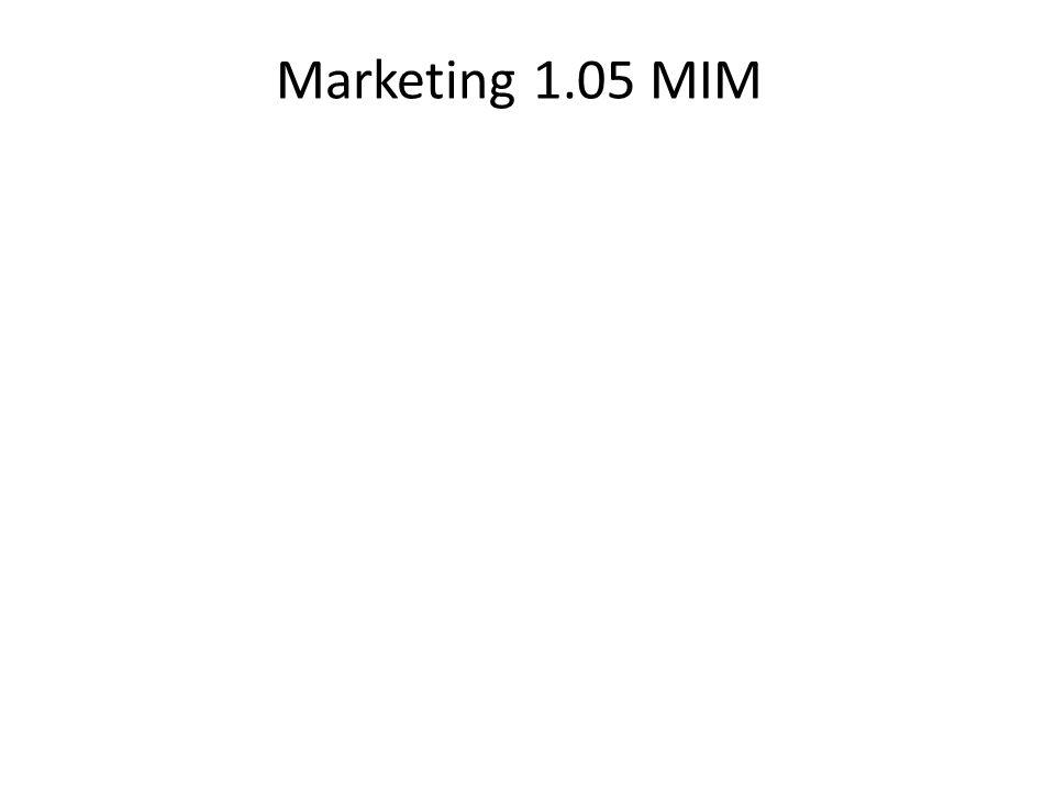 Marketing 1.05 MIM