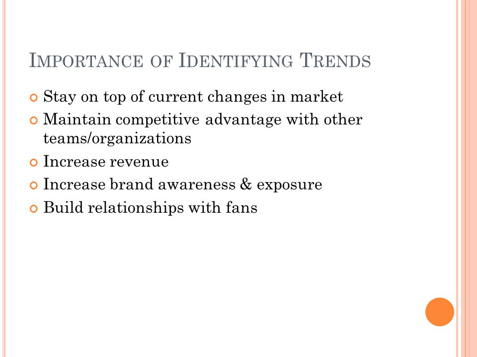 Importance of Identifying Trends