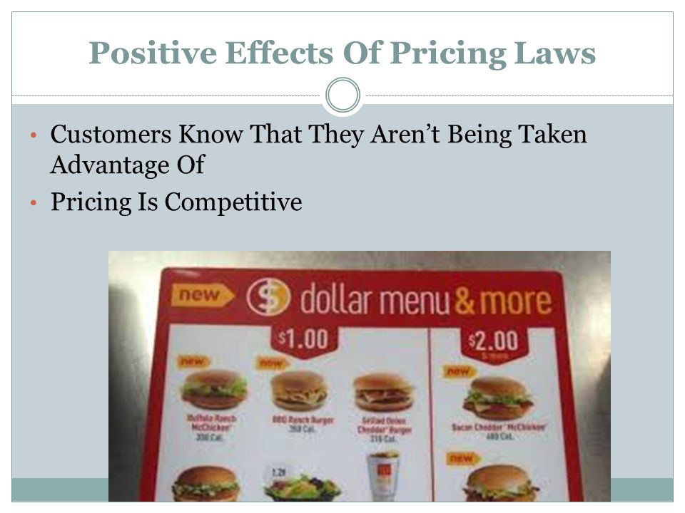 Positive Effects Of Pricing Laws