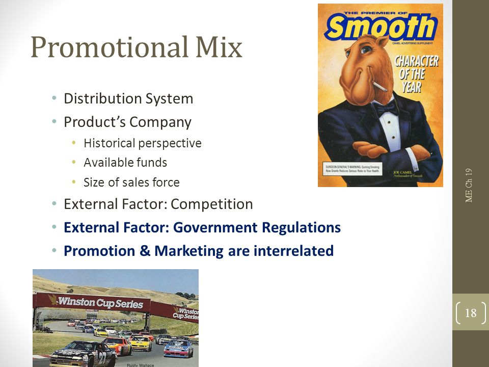 Promotional Mix Distribution System Product's Company