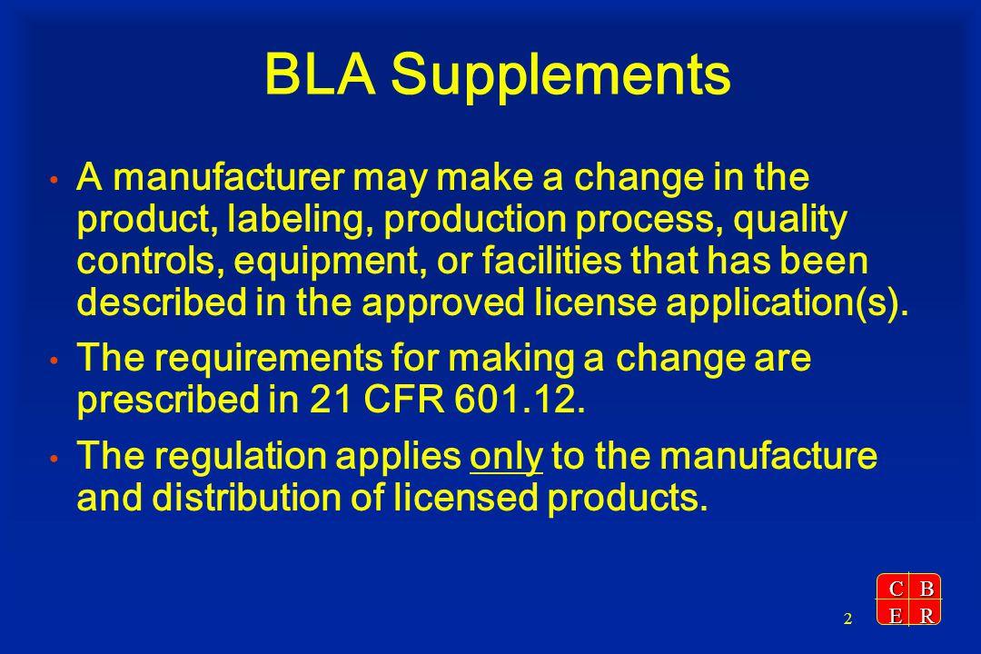BLA Supplements