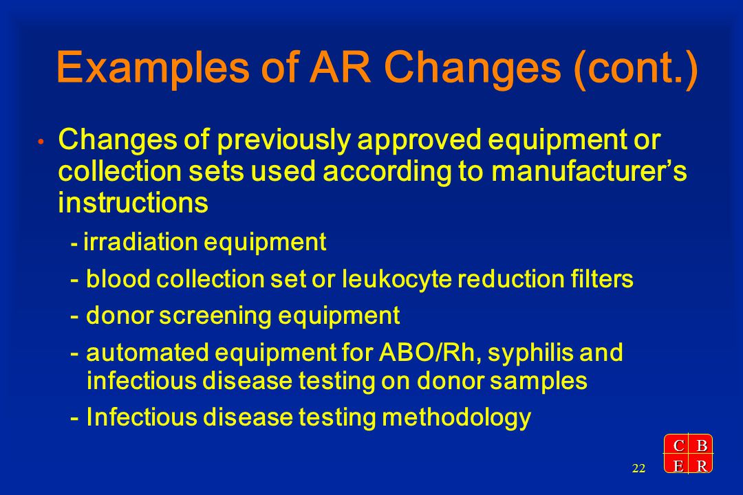 Examples of AR Changes (cont.)