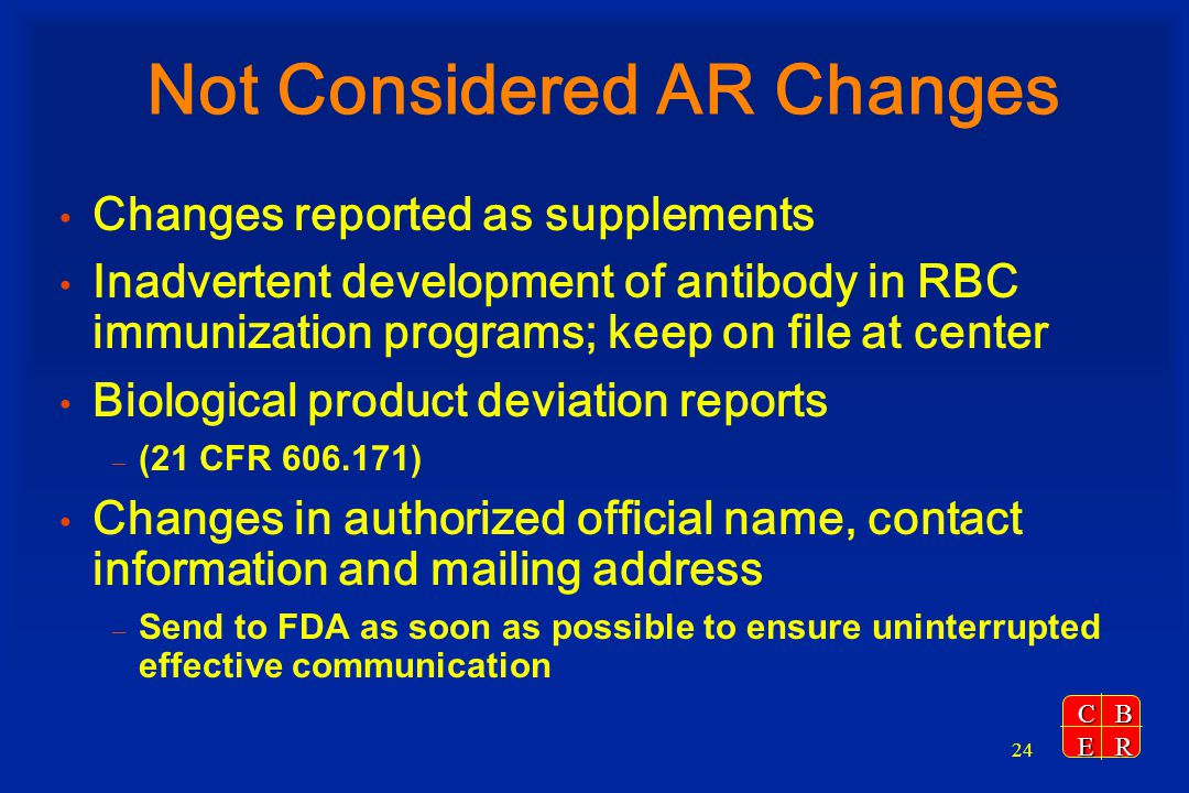 Not Considered AR Changes