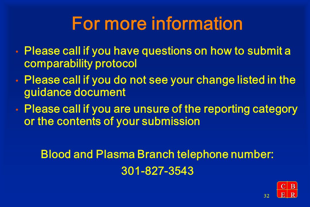 Blood and Plasma Branch telephone number: