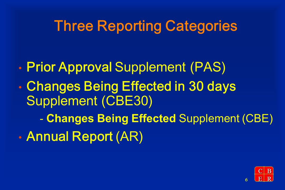 Three Reporting Categories