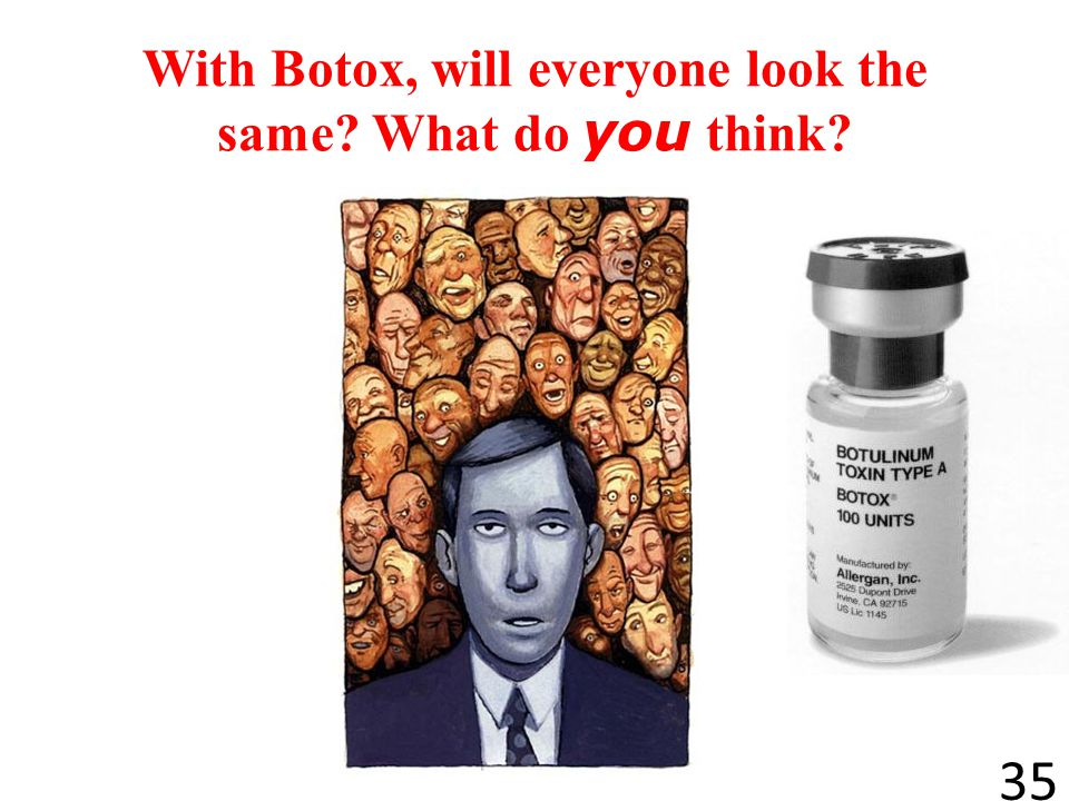 With Botox, will everyone look the same What do you think
