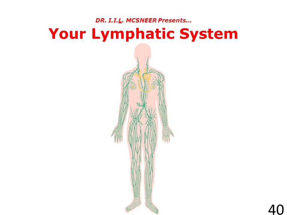 DR. I.I.L. MCSNEER Presents… Your Lymphatic System