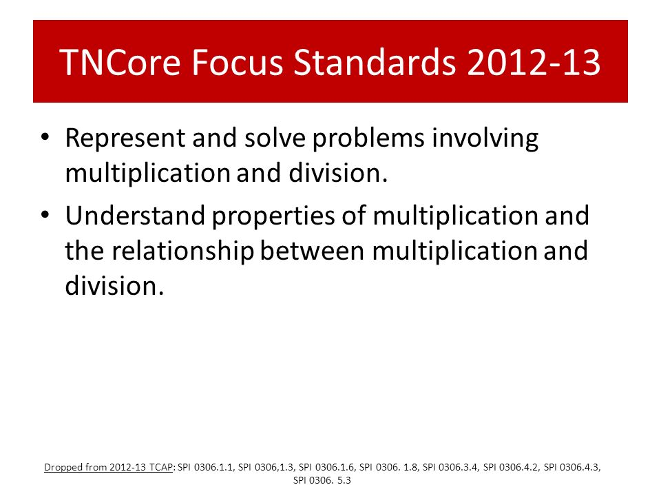TNCore Focus Standards 2012-13