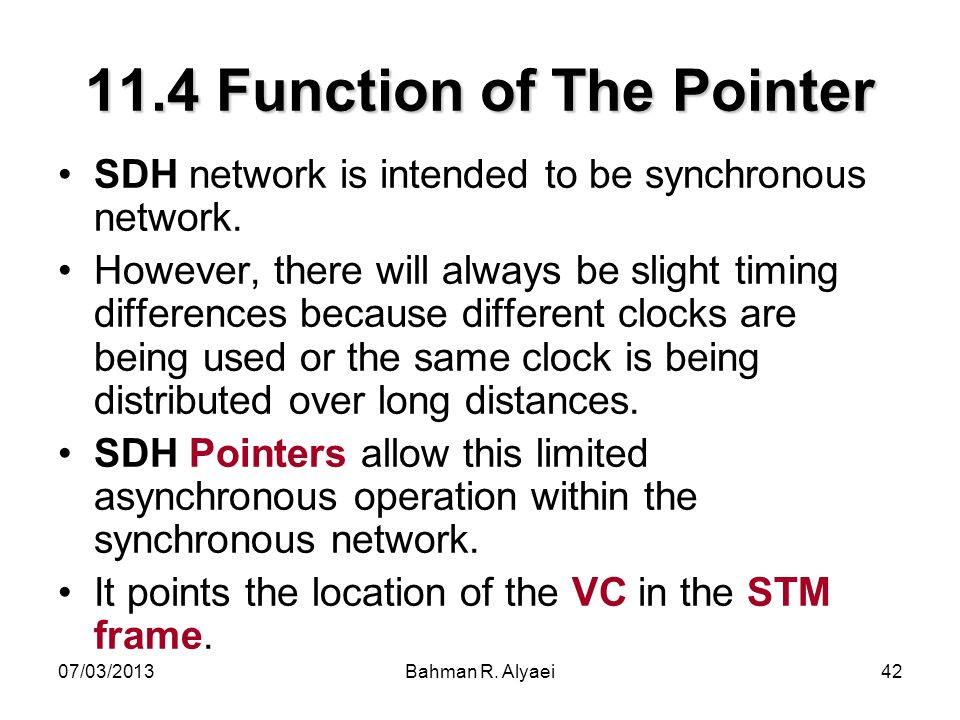 11.4 Function of The Pointer