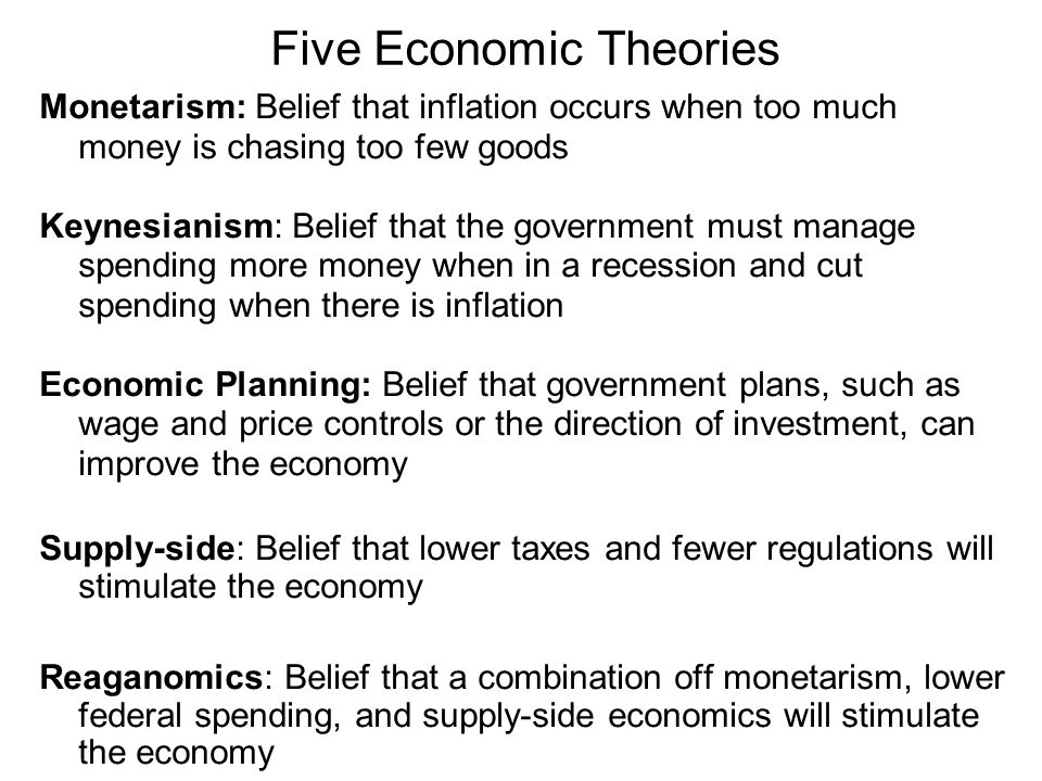Five Economic Theories