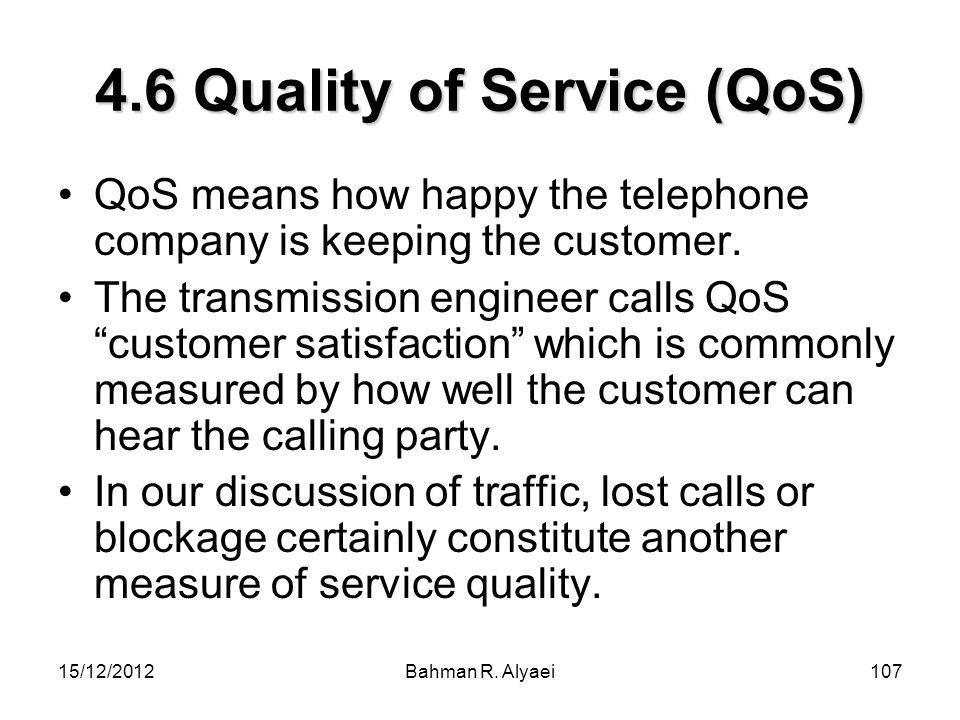 4.6 Quality of Service (QoS)
