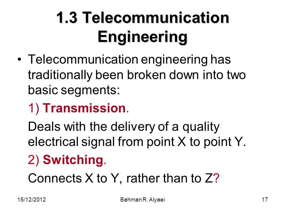 1.3 Telecommunication Engineering