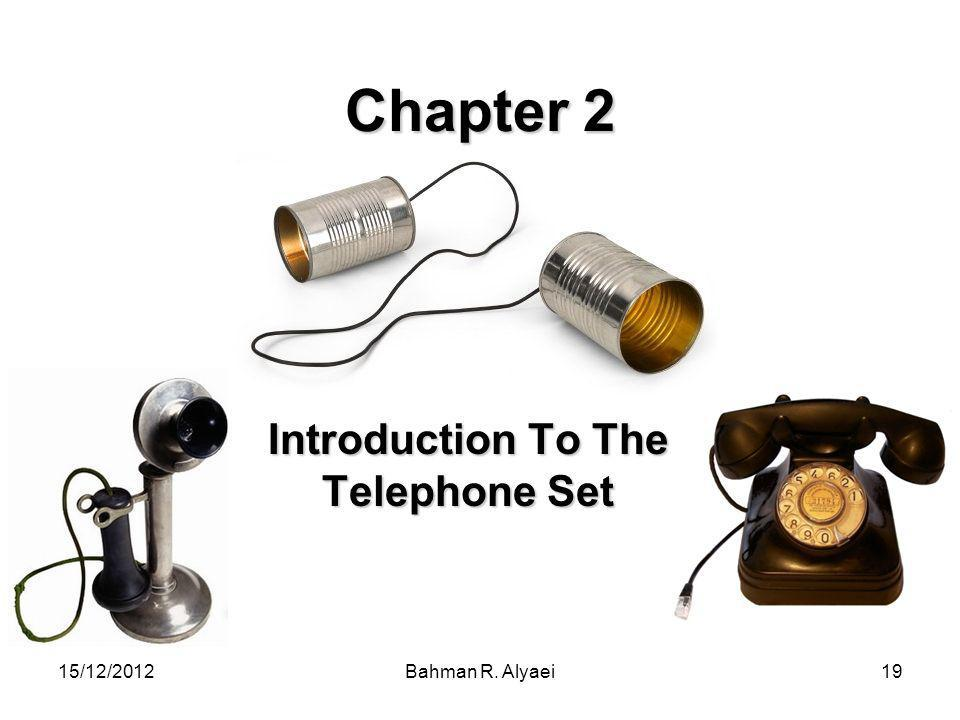 Introduction To The Telephone Set