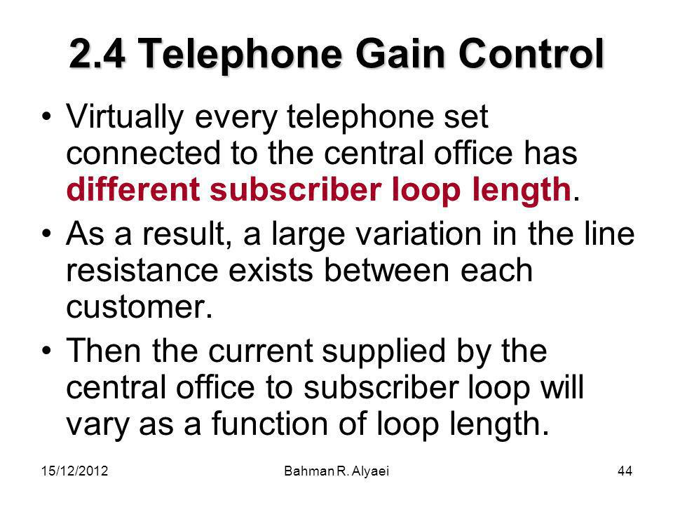 2.4 Telephone Gain Control