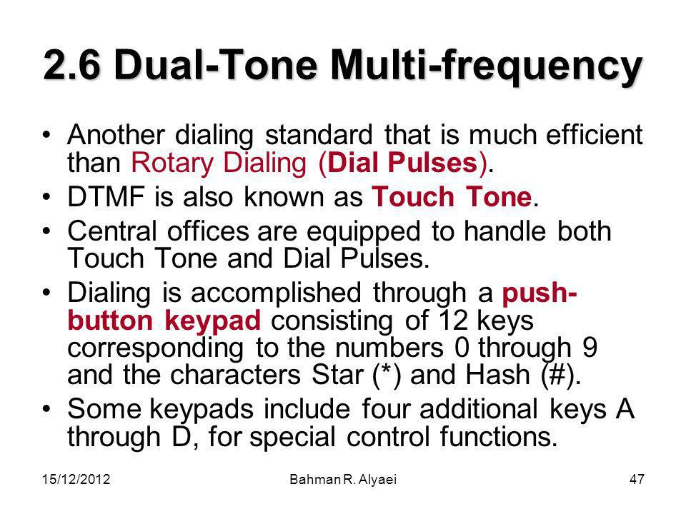 2.6 Dual-Tone Multi-frequency