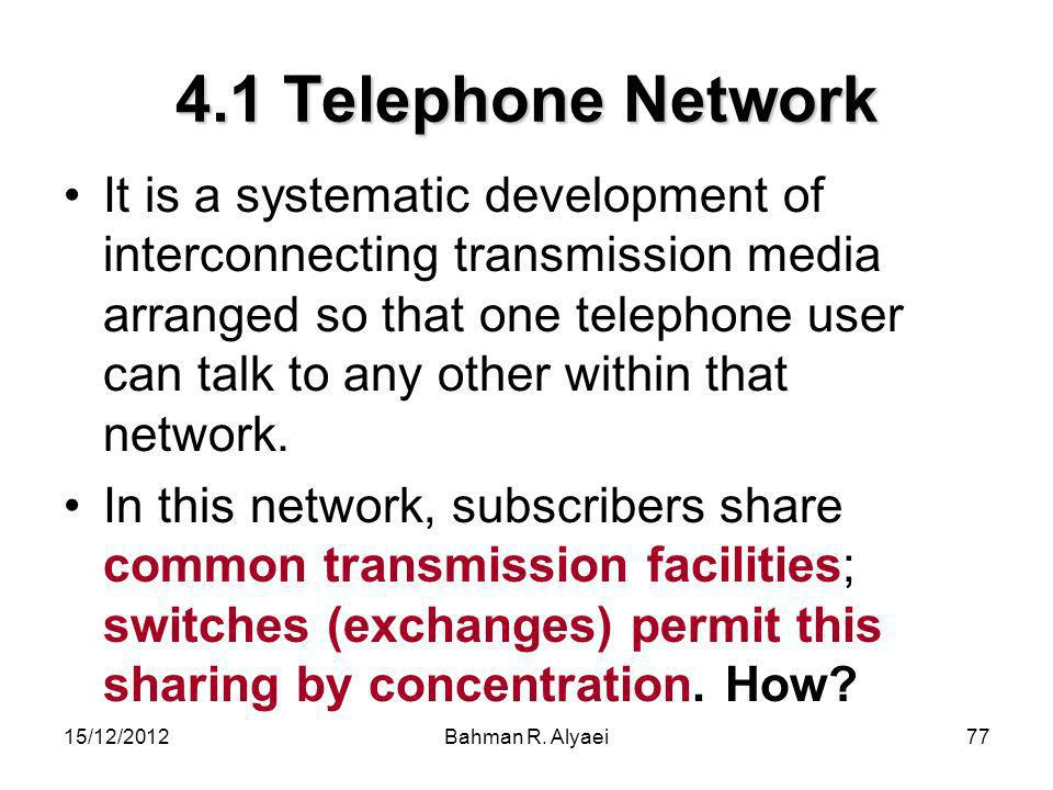 4.1 Telephone Network