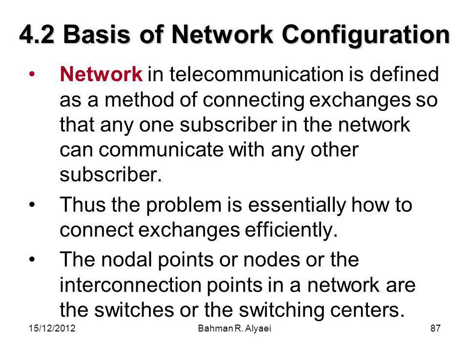 4.2 Basis of Network Configuration