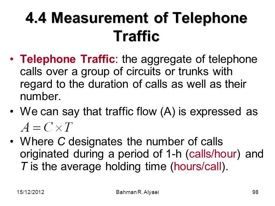 4.4 Measurement of Telephone Traffic