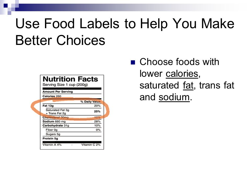 Use Food Labels to Help You Make Better Choices