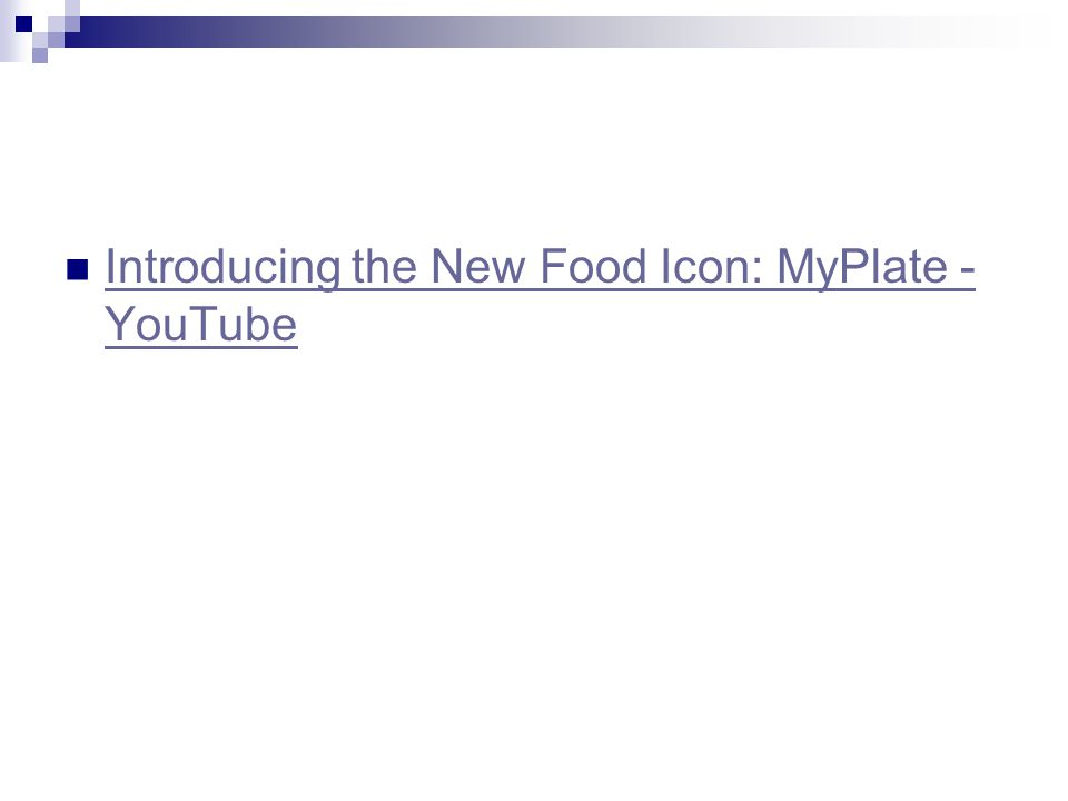Introducing the New Food Icon: MyPlate - YouTube