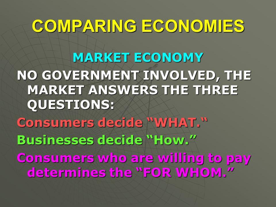 COMPARING ECONOMIES MARKET ECONOMY