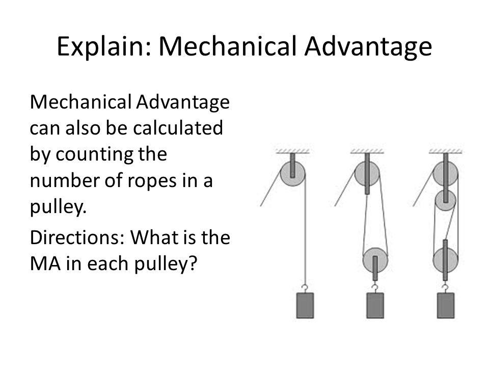 Explain: Mechanical Advantage