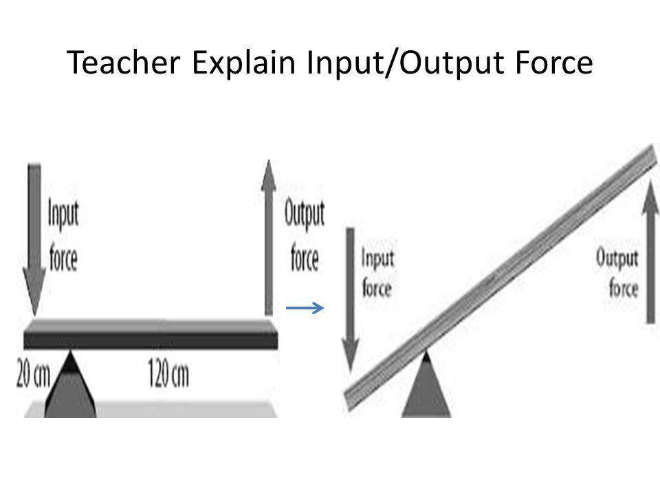 Teacher Explain Input/Output Force