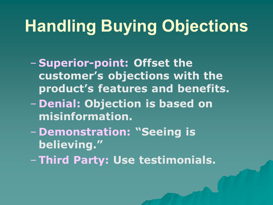 Handling Buying Objections