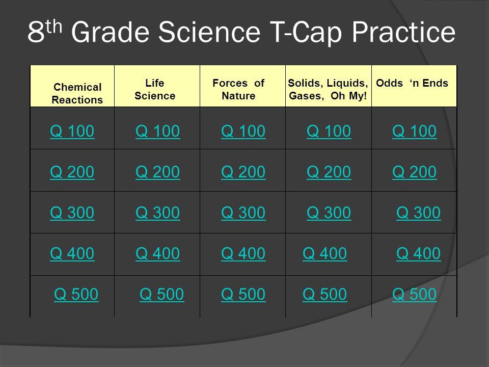 8th Grade Science T-Cap Practice