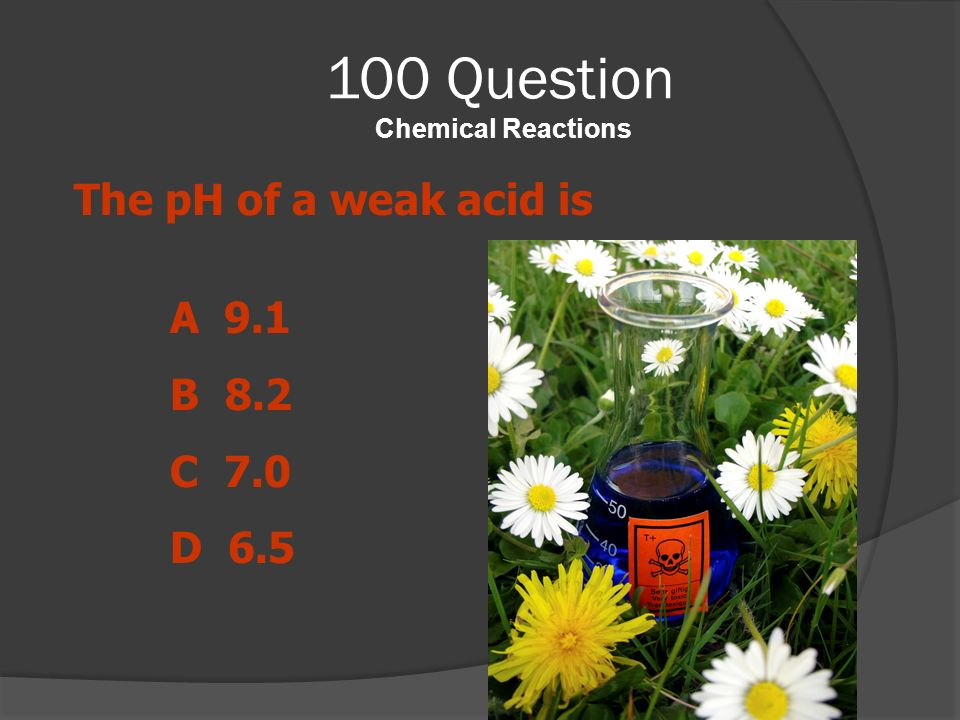 100 Question Chemical Reactions