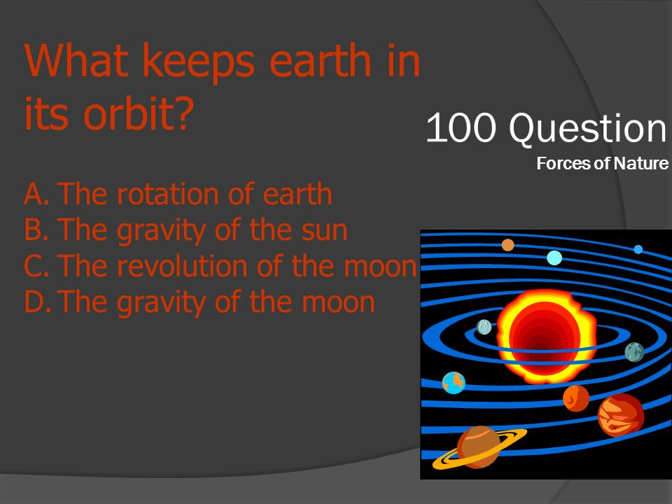 100 Question Forces of Nature