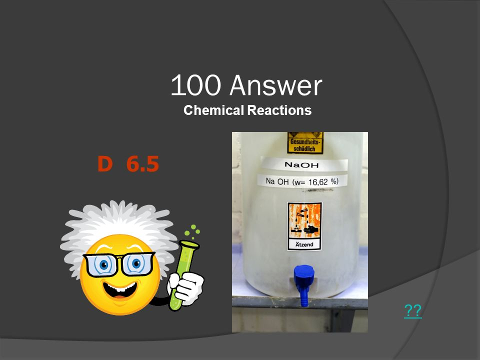 100 Answer Chemical Reactions