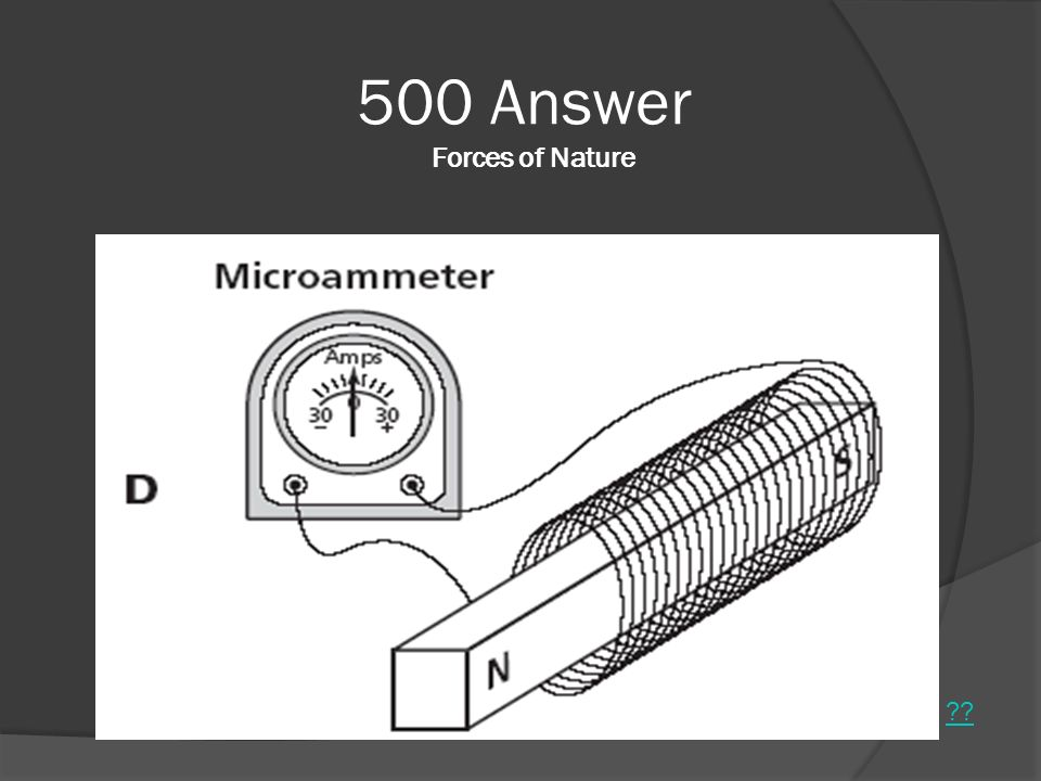500 Answer Forces of Nature