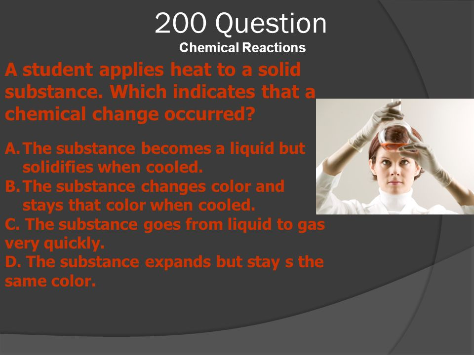 200 Question Chemical Reactions