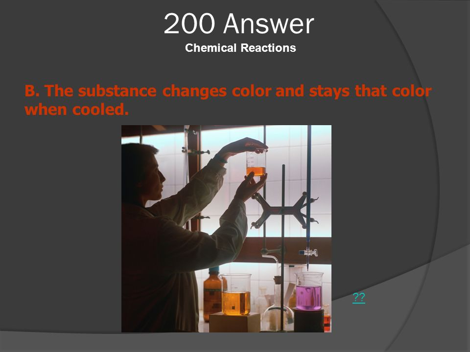 200 Answer Chemical Reactions
