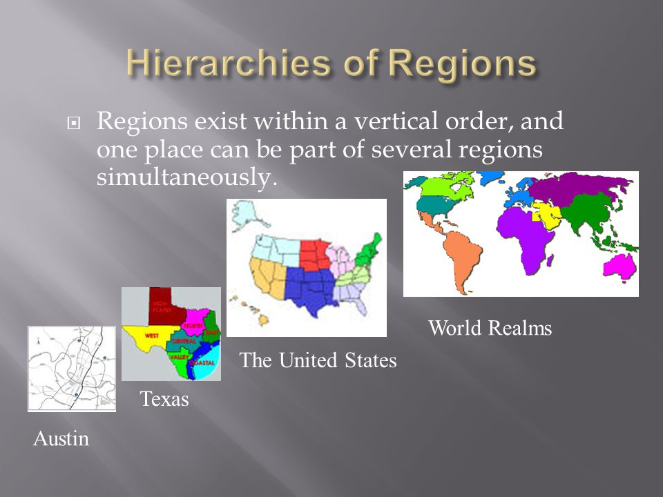 Hierarchies of Regions