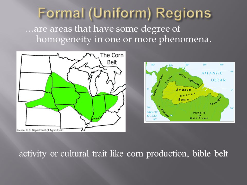 Formal (Uniform) Regions