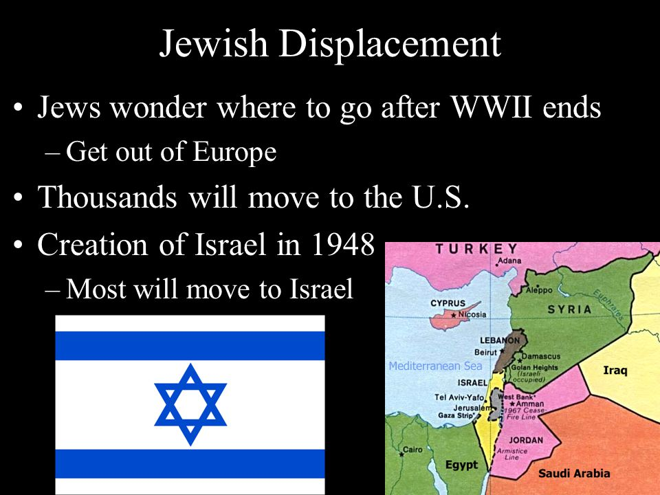Jewish Displacement Jews wonder where to go after WWII ends