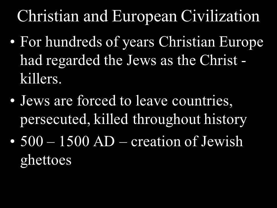 Christian and European Civilization