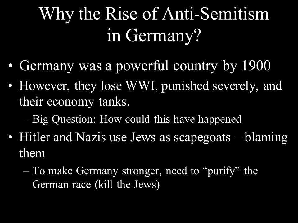 Why the Rise of Anti-Semitism in Germany