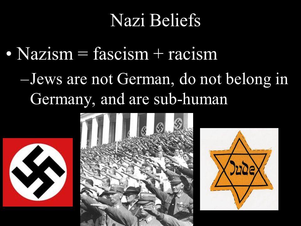 Nazism = fascism + racism