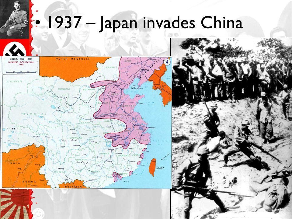 1937 – Japan invades China