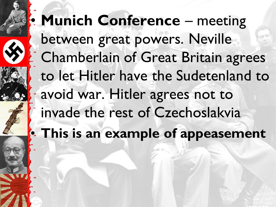 Munich Conference – meeting between great powers