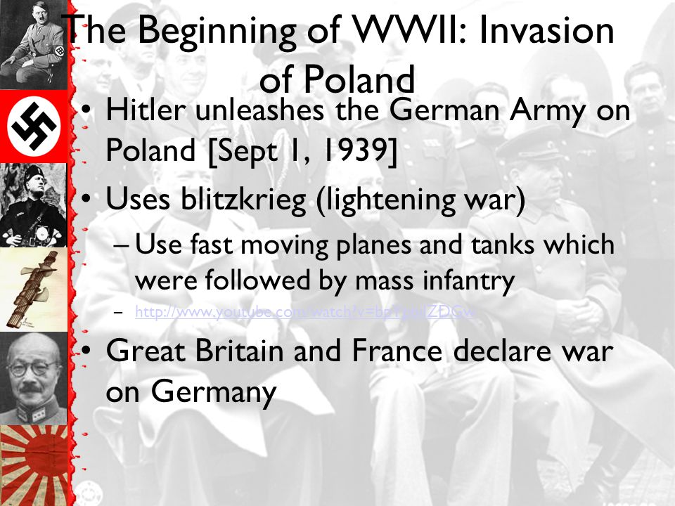 The Beginning of WWII: Invasion of Poland